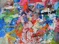 """Amaranth Ehrenhalt, """"Jump In and Move Around,"""" 1962, oil on canvas, 59 x 77 in."""