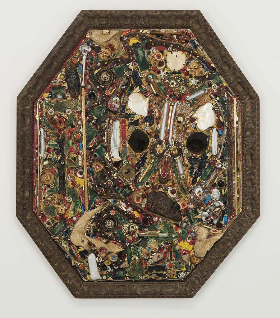 "Alfonso Ossorio (1916-1990) Orantes, 1961 congregation of mixed media on panel with frame 69 5/8"" x 59 1/2"" x 3"""