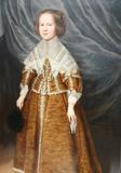 Portrait of Princess Eliza, daughter of King Charles I, 1639, oil on canvas, English School