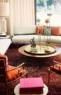 Persian Carpet Interior with Pops of Color