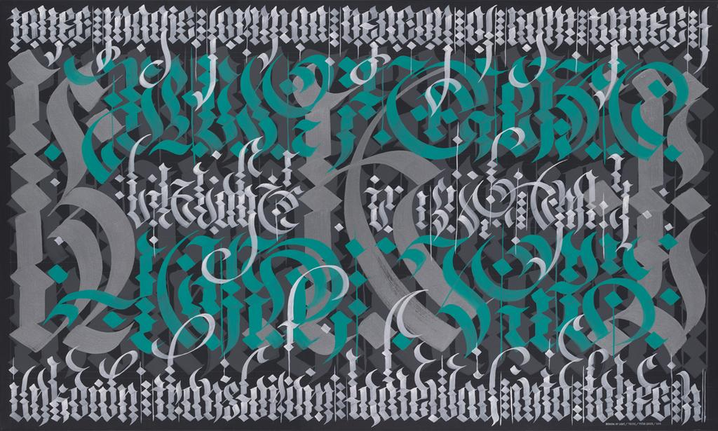 Laguna College of Art and Design's (LCAD) BFA program in Graphic Design + Digital Media is proud to present Meticulous Calligraffiti, an exhibition showcasing the work of calligrapher and street artist, Peter Greco.
