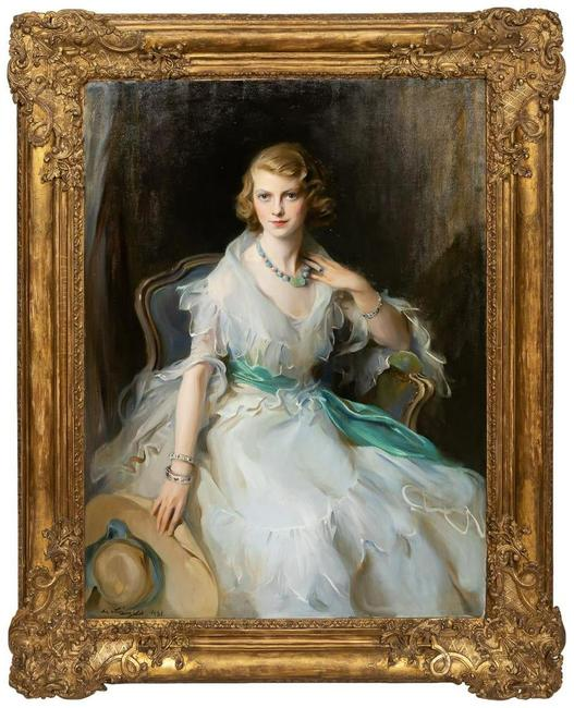 Portrait of Oonagh Guinness (1910-1995), the Anglo-Irish socialite, society hostess and art collector, by Philip de László (Austro-Hungarian/U.K., 1869-1937) ($324,500).