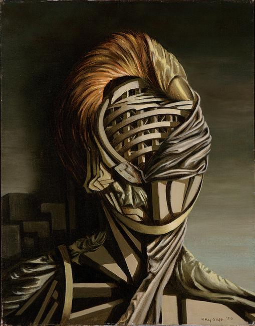 Kay Sage Small Portrait, 1950 Oil on canvas 14 ½ x 11 ½ inches