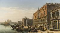 View of Venice with the Dodge's Palace and the church of Santa Maria della Salute beyond, Victor Vervloet
