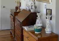 Desks and decorations at Showcase Antiques and Fine Arts