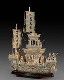 Carved Ivory Boat