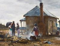 Ogden M.  Pleissner, The Visitors, oil on board, 16 by 20 in., ($75/85,000)