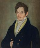 Robert Field Stockton (1795-1866), c.  1821.  Micah Williams (1782-1837).  Pastel on paper.