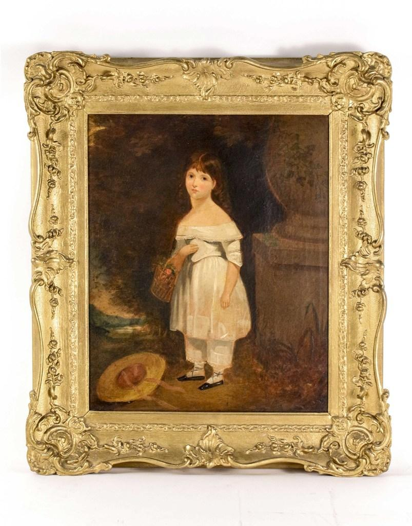 This portrait painting by an unknown American School artist will be sold Oct.  4-5 in Atlanta.