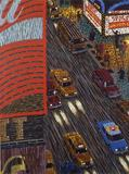 Yvonne Jacquette, Motion Picture (Times Sq.), (detail), 1990, 12-color lithograph, museum purchase, 1990 © 1990 Y.J.