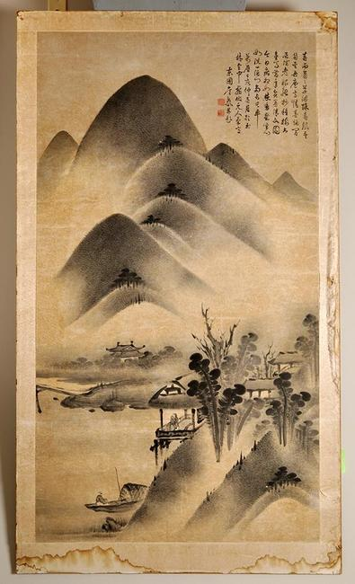 Qianlong scroll painting sold for more than estimated at Witherell's summer auction.