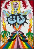 "Karl Wirsum, ""Show Girl I,"" 1969.  Copyright the artist.  Courtesy Karin Tappendorf."