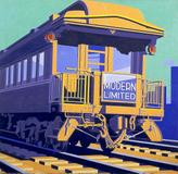 Winold Reiss, 1886-1953 Observation Car, 1932 Oil on canvas 66 x 68 inches