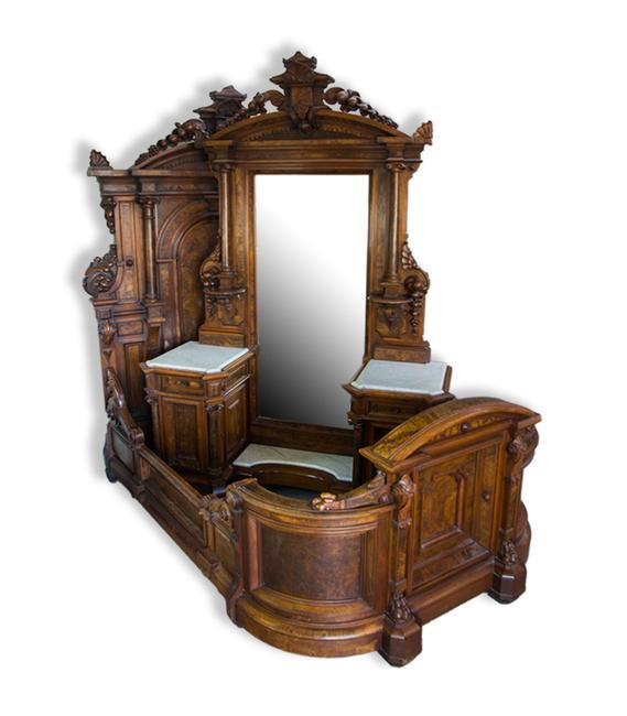 A 3-piece Renaissance Revival bedroom suite sold for $28,750 at Witherell's Fall Auction.