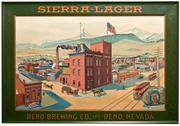 This Reno Brewing Company tin sign from around 1900, 26 inches by 33 inches, framed, is expected to sell for $7,500-$15,000 at the August 6th auction.