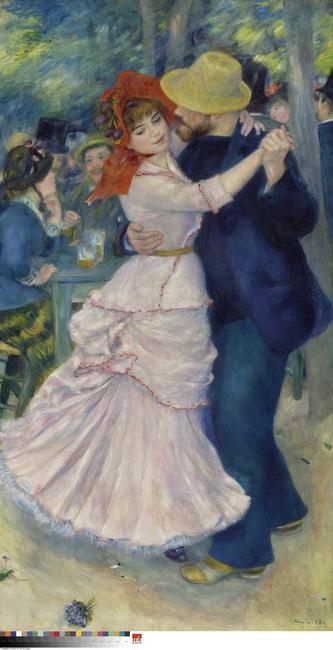 Dance at Bougival, 1883 Pierre-Auguste Renoir, French Oil on canvas 71 5/8 x 38 5/8 inches (181.9 x 98.1 cm) Museum of Fine Arts, Boston.  Picture Fund; Courtesy Museum of Fine Arts, Boston