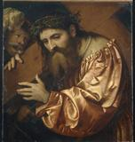 """""""Christ Carrying the Cross Dragged by a Rogue"""" by the Italian Renaissance artist Girolamo Romano."""
