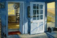 """Philip Koch, Rooms by the Sea, oil on pane, 14 x 21"""", 2013"""