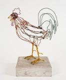 Proud Rooster c.  1956 painted wire 21 ¼ inches high