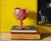 Rose Lustre, 1920, oil on panel, 10 3/4 x 13 in, Private Collection