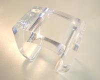 Von Musulin cuff in clear acrylic