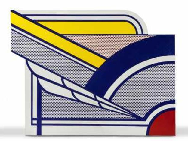 This porcelain enamel on steel artwork by the noted pop artist Roy Lichtenstein (Am., 1923-1997), titled Modern Painting in Porcelain, sold for $189,750 on March 19th at Cottone Auctions.