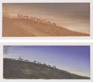 Ed Ruscha, Landmark Decay, 2006 (top); Further Landmark Decay, 2006 (bottom)