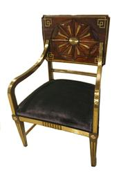 One from a pair of important Russian Empire chairs from Keith Ellis Antiques, UK