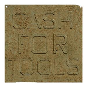 Ed Ruscha, Rusty Signs, Cash For Tools I, 2014