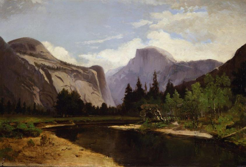 "Mary Stevens Fish's 1879 painting, ""Yosemite,"" will be on exhibit in ""Something Revealed: California Women Artists Emerge, 1860-1960"" at the Pasadena Museum of History Sept.  29-March 31.  (Photo courtesy of Maurine St.  Gaudens and Joseph Morsman)."