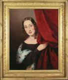 Schwarz Gallery. Portrait of Mary Jane Peale [?], by Sarah Miriam Peale (American, 1800-1885). Circa 1840.