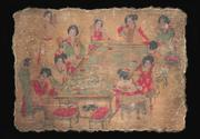 Song Dynasty frescoe after Tang Dynasty artist Zhang Xuan paintng.