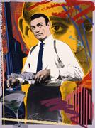 Sean Connery-James Bond with Martini by TAZ (Jim Evans), 1986