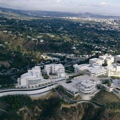 Getty Center in Los Angeles, aerial view