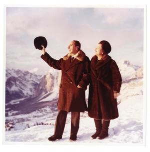 Count and Countess Martignone at Cortina d'Ampezzo in the Dolomites