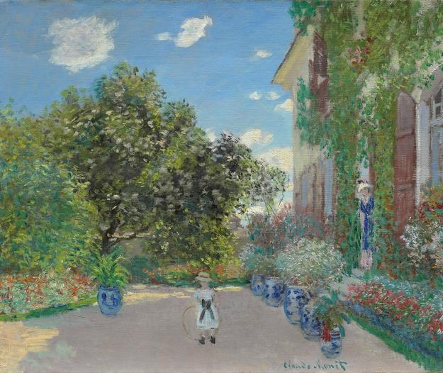 """The Artist's House at Argenteuil,"" 1873, Claude Monet, oil on canvas.  The Art Institute of Chicago.  Mr.  and Mrs.  Martin A.  Ryerson Collection, 1933.1153"