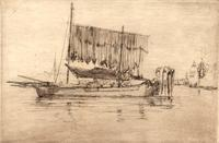 James McNeill Whistler, Fishing Boat, 1879-1880, etching on laid paper, Syracuse University