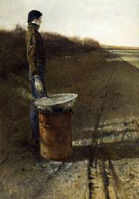 ©Andrew Wyeth (1917-2009), Roasted Chestnuts (1956), tempera on panel.