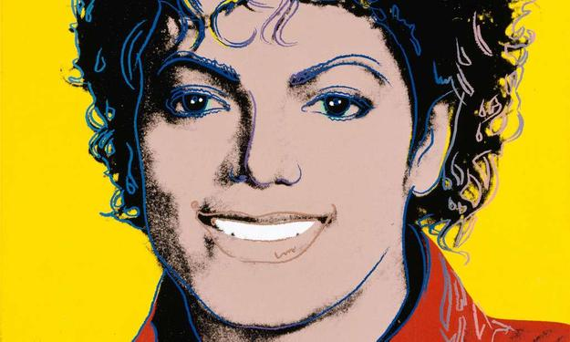 Andy Warhol's 1984 portrait of Michael Jackson.  DETAIL