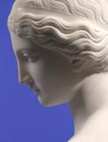 Harriet Hosmer (1830-1908) Daphne, c.  1853.  Marble, 28 ¼ x 19 5/8 x 11 ½ inches.  Signed: Harriet Hosmer/Fecit Romae (rear of socle).  Conner- Rosenkranz.