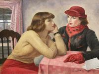 "Abraham Leon Kroll's 1920 painting ""The Conversation"" at the National Academy Museum."