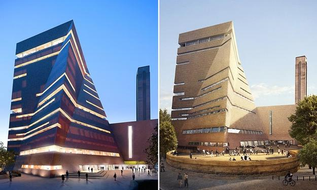 Renderings of the new Tate Modern