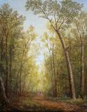 Path Through the Woods by Lauren Sansaricq (b.  1990).