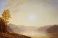 Sunrise over the Hudson River Early Autumn by Lauren Sansaricq (b.  1990).