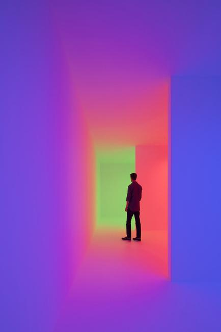 "Carlos Cruz-Diez, ""Chromosaturation,"" 1965/2017, mixed media (Palm Springs Art Museum)"