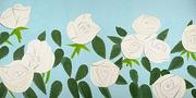 Alex Katz, White Roses, 2014, 43 x 86 in., ed.  50, signed by the artist.