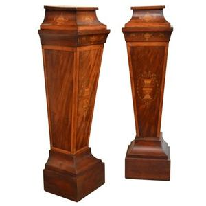 Bernard Vandeuren/Vandeuren Galleries will exhibit a pair of Edwardian column pedestals, ca.  1910, with inlay