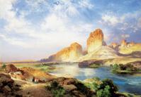 Thomas Moran, Green River, Wyoming.  Oil on canvas, 20 x 28 1/2 inches.