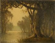 Joseph Rusling Meeker American; (1827-1889).  Louisiana Bayou landscape with willow Oil on canvas.  Signed lower left.  Sold for $27,000 at the August 20 Summer Art & Antiques Auction, Antique Helper Auctions, Indianapolis.