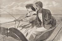 Winslow Homer (1836 - 1910) Our Watering-Places - The Empty Sleeve at Newport, from Harper's Weekly, August 25, 1865, p.  532, wood engraving on wove paper, 9 5/16 x 13 3/4 inches.  Gift of Peggy and Harold Osher.
